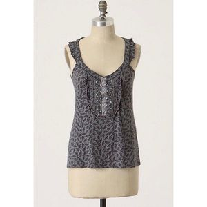 Anthropologie C. Keer Albus Sprigs Tank Top